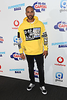 Marvin Humes<br /> in the press room for the Capital Summertime Ball 2018 at Wembley Arena, London<br /> <br /> ©Ash Knotek  D3407  09/06/2018