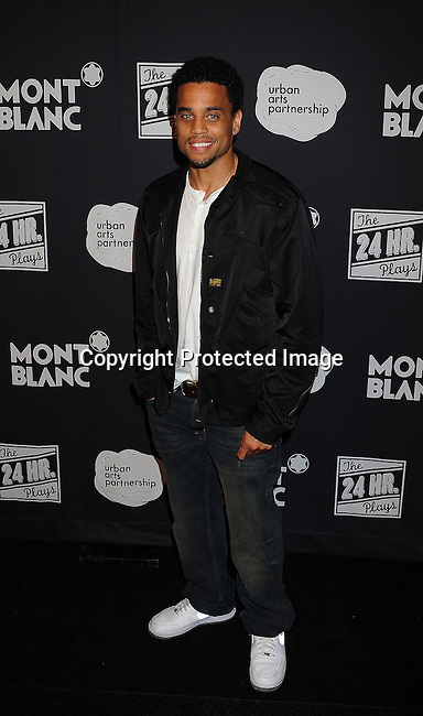SANTA MONICA, CA - JUNE 18: Michael Ealy arrives for the Montblanc presents West Coast debut of The 24 Hours Plays after party at Pier 59 on June 18, 2011 in Santa Monica, California.
