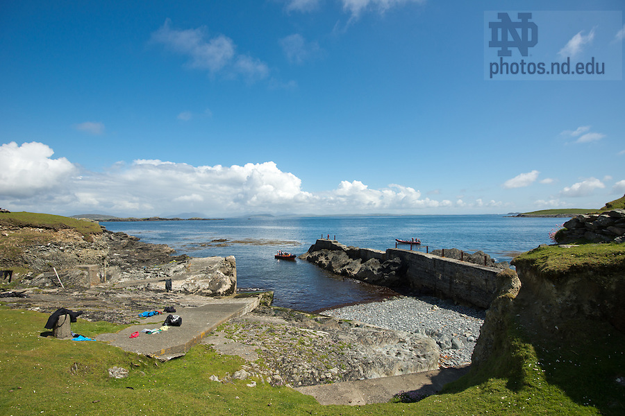 June 6, 2012; The harbor on Inishark Island, Ireland...Photo by Matt Cashore/University of Notre Dame