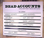 Cast Board for the Broadway Opening Night Performance Curtain Call for 'Dead Accounts' at the Music Box Theatre in New York City. November 29, 2012.