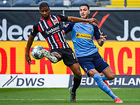 Almamy Toure (Eintracht Frankfurt), Ramy Bensebaini (Borussia Moenchengladbach) - 16.05.2020, Fussball 1.Bundesliga, 26.Spieltag, Eintracht Frankfurt  - Borussia Moenchengladbach emspor, v.l. Stadionansicht / Ansicht / Arena / Stadion / Innenraum / Innen / Innenansicht / Videowall<br /> <br /> <br /> Foto: Jan Huebner/Pool VIA Marc Schüler/Sportpics.de<br /> <br /> Nur für journalistische Zwecke. Only for editorial use. (DFL/DFB REGULATIONS PROHIBIT ANY USE OF PHOTOGRAPHS as IMAGE SEQUENCES and/or QUASI-VIDEO)