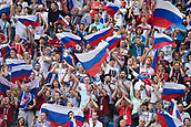 17th June 2017, St Petersburg, Russia; FIFA 2017 Confederations Cup football, Russia versus New Zealand; Group A - Saint Petersburg Stadium,  Russian fans with flags before the Confederations Cup Group A soccer match between Russia and New Zealand at the stadium in Saint Petersburg, Russia, 17 June 2017.