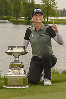 Sung Hyun Park (KOR) holds the trophy for winning the 2018 KPMG Women's PGA Championship, Kemper Lakes Golf Club, at Kildeer, Illinois, USA. 7/1/2018.<br /> Picture: Golffile | Ken Murray<br /> <br /> All photo usage must carry mandatory copyright credit (&copy; Golffile | Ken Murray)