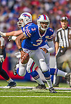 21 September 2014: Buffalo Bills quarterback EJ Manuel scrambles in the backfield against the San Diego Chargers at Ralph Wilson Stadium in Orchard Park, NY. The Chargers defeated the Bills 22-10 in AFC play. Mandatory Credit: Ed Wolfstein Photo *** RAW (NEF) Image File Available ***