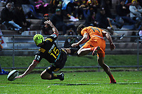 Charlie Ngatai and Ramiro Moyano collide during the Super Rugby match between the Chiefs and Jaguares at Rotorua International Stadum in Rotorua, New Zealand on Friday, 4 May 2018. Photo: Dave Lintott / lintottphoto.co.nz