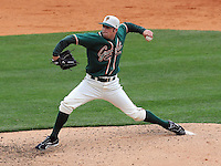 April 19, 2009: LHP Andrew Loomis (7) of the Greensboro Grasshoppers, Class A affiliate of the Florida Marlins, in a game against the Greenville Drive at Fluor Field at the West End in Greenville, S.C. Photo by: Tom Priddy/Four Seam Images