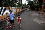 Pagoda goers walk through the Giac Lam Pagoda in Tan Binh District in Ho Chi Minh City, Vietnam. Photo taken Tuesday, May 4, 2010....Kevin German / LUCEO