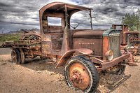Vintage truck at Goldfield Mine and Ghost Town in Arizona. Goldfield Station