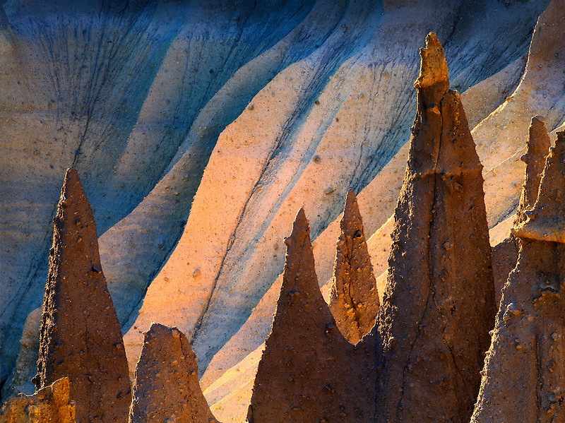 Backlit Pinnacles at Cater Lake National Park, Oregon