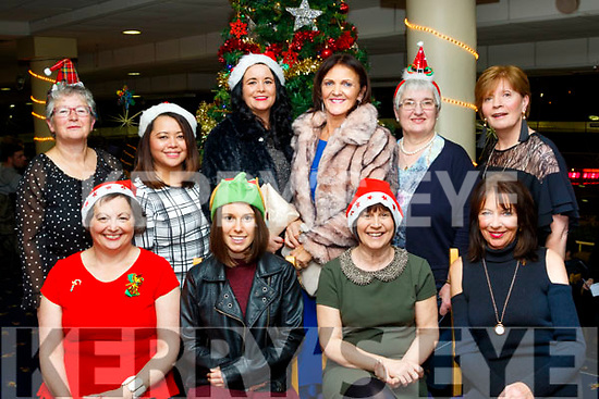 Seated L-R Margaret Wharton, Ciara&Debbie McDonald with Mary Murrey, back Shonie O'Flaherty, Susan Benabaye, Elaine Cremmins, Annette Barrington, Mary Flahive and Joan Scully, staff of Fatima retirement home, Tralee at their Christmas party  at their Christmas party at Kingdom Greyhound stadium, Tralee, last Friday night.