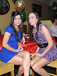 Louise McKeever Monasterboice and Shauna Doyle Brookville pictured at Vincent Ludlow's 50th birthday in the Star and Crescent. Photo: Colin Bell/pressphotos.ie