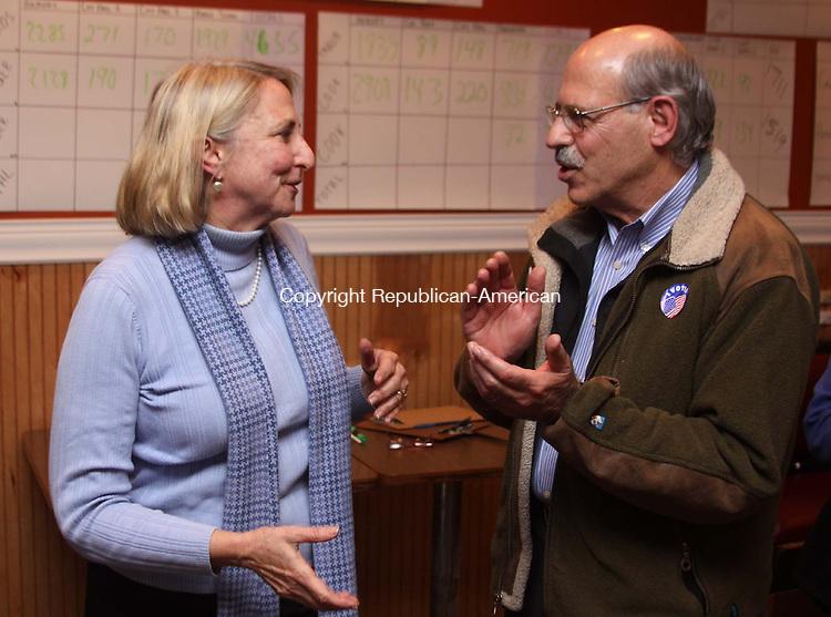 TORRINGTON, CT - 6 November 2012 - 110612JM16 - State Rep. Roberta Willis, D-Sharon, and her husband, Bill, celebrate Willis's victory at Democratic headquarters in Torrington on Tuesday. John McKenna Photo