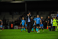 Fleetwood Town's manager Uwe Rosler  claps the away support during the Sky Bet League 1 match between Scunthorpe United and Fleetwood Town at Glanford Park, Scunthorpe, England on 17 October 2017. Photo by Stephen Buckley/PRiME Media Images