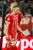 September 12th 2017, Munich, Germany, Champions League football, Franck Ribery of Bayern Munchen  and Arjen Robben of Bayern Munchen