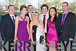 Pictured at the Nurses Ball in the Carlton Hotel, Tralee on Thursday night, from left: Damien Counihan, Catriona Knightly, Gearoid OShea, Aisling Dold, Joe Moynihan, Aisling Murphy and Pa McInerney..