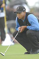 Ryder Cup 206 K Club, Straffin, Ireland...American Ryder Cup team player Tiger Woods on the green of the second hole during  the  morning fourballs session of the second day of the 2006 Ryder Cup at the K Club in Straffan, Co Kildare, in the Republic of Ireland, 23 September 2006...Photo: Eoin Clarke/ Newsfile.