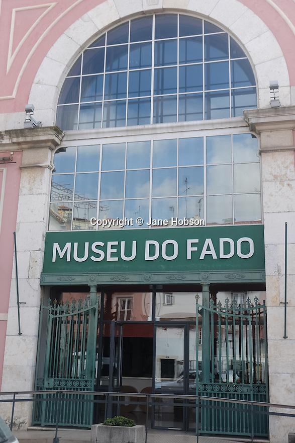 Lisbon, Portugal. 21.03.2015. Museu do Fado sign, in the Alfama district of Lisbon. © Jane Hobson.