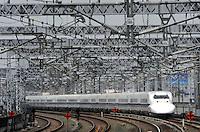 A Shinkansen train in Hamamatsu city, Shizuoka Prefecture , Thursday 4th June,  Japan. <br /><br />Photo by Richard Jones/Sinopix
