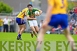 Bryan Sheehan, Kerry in action against Dean Ryan, Clare in the Munster Senior Championship Semi Final in Cusack Park, Ennis on Sunday.
