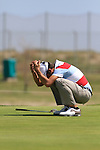 Pablo Larrazabal (ESP) just misses his putt on the 16th green during Day 3 Saturday of the Open de Andalucia de Golf at Parador Golf Club Malaga 26th March 2011. (Photo Eoin Clarke/Golffile 2011)