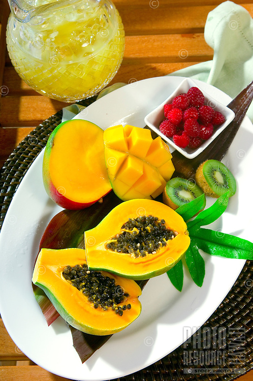 Tropical Fruit Plate With Mango & Papaya