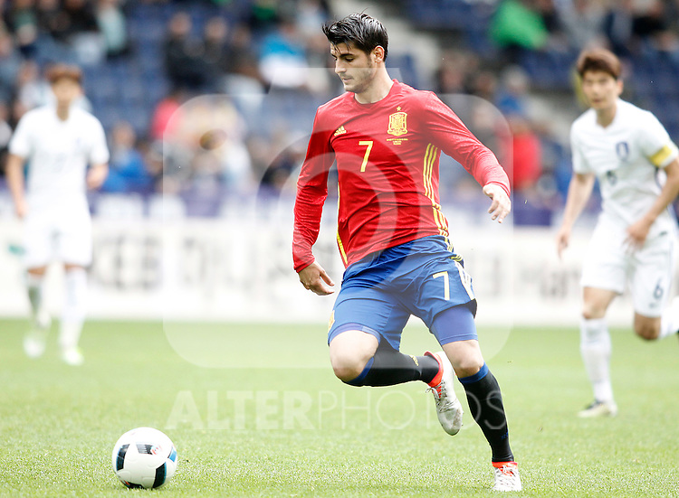 Spain's Alvaro Morata during friendly match. June 1,2016.(ALTERPHOTOS/Acero)