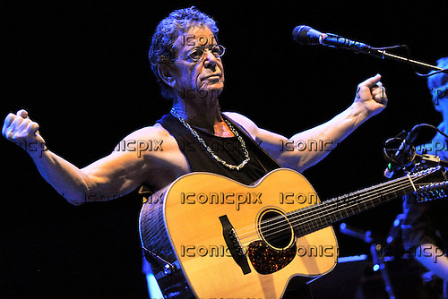 LOU REED performing live at the Meltdown Festival at the Royal Festival Hall in London UK - 10 Aug 2012.  Photo credit: Sarah Jeynes/IconicPix