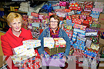 BOXES: Margaret Doyle Kennedy and Margaret Hannon Gleeson collecting shoeboxes for the Team Hope charity which will be sent around the world.