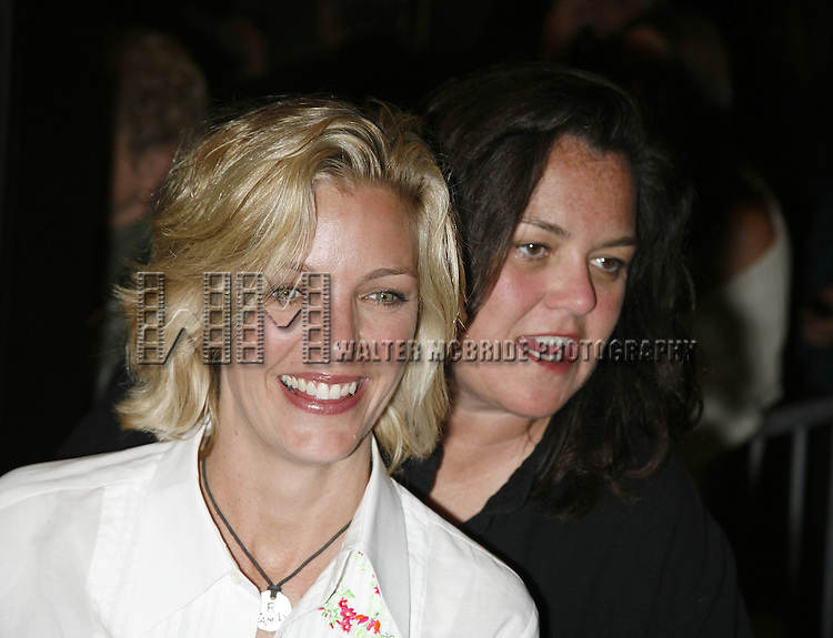 Kelli Carpenter & Rosie O'Donnell attending the Opening Night of Warner Bros. Theatre Ventures' Inaugural production of LESTAT at the Palace Theatre with an after party at Time Warner Center in New York City. April 25, 2006.© Walter McBride/WM Photography