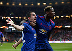 Henrikh Mkhitaryan of Manchester United celebrates scoring the second goal during the UEFA Europa League Final match at the Friends Arena, Stockholm. Picture date: May 24th, 2017.Picture credit should read: Matt McNulty/Sportimage