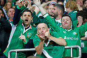 9th October 2017, Cardiff City Stadium, Cardiff, Wales; FIFA World Cup Qualification, Wales versus Republic of Ireland; Republic of Ireland supporters celebrate James McCleans goal
