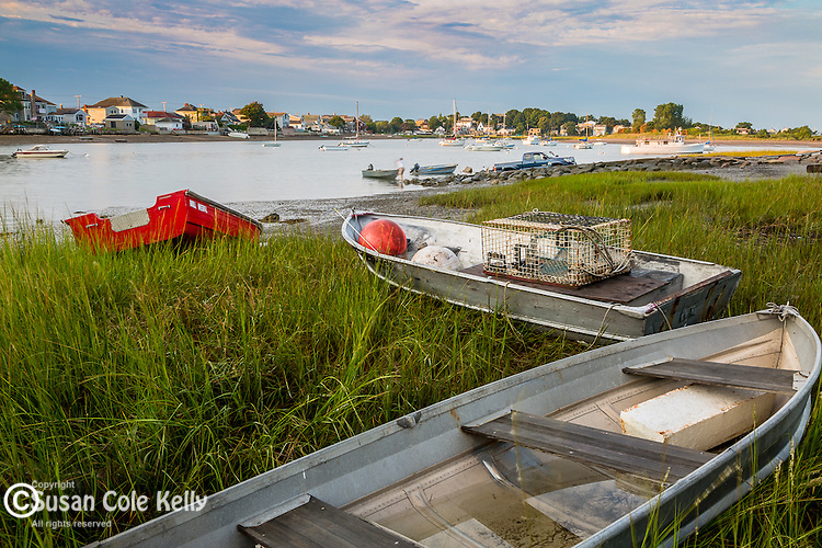 Rowboats in Winthrop, Massachusetts, USA