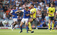 Blackburn Rovers' Derrick Williams and Ipswich Town's Gwion Edwards<br /> <br /> Photographer Rachel Holborn/CameraSport<br /> <br /> The EFL Sky Bet Championship - Ipswich Town v Blackburn Rovers - Saturday 4th August 2018 - Portman Road - Ipswich<br /> <br /> World Copyright &copy; 2018 CameraSport. All rights reserved. 43 Linden Ave. Countesthorpe. Leicester. England. LE8 5PG - Tel: +44 (0) 116 277 4147 - admin@camerasport.com - www.camerasport.com