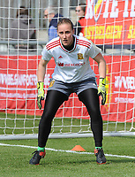 20170408 - EUPEN ,  BELGIUM : Spanish Mariasun Quinones  pictured during the female soccer game between the Belgian Red Flames and Spain , a friendly game before the European Championship in The Netherlands 2017  , Saturday 8 th April 2017 at Stadion Kehrweg  in Eupen , Belgium. PHOTO SPORTPIX.BE | DIRK VUYLSTEKE