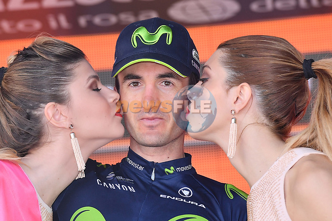 Gorka Izaguirre (ESP) Movistar Team wins Stage 8 of the 100th edition of the Giro d'Italia 2017, running 189km from Molfetta to Peschici, Italy. 1th May 2017.<br /> Picture: LaPresse/Gian Mattia D'Alberto | Cyclefile<br /> <br /> <br /> All photos usage must carry mandatory copyright credit (&copy; Cyclefile | LaPresse/Gian Mattia D'Alberto)