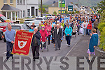 The Corpus Christi procession in Cahersiveen as it nears its destination for service at St Anne's Hospital.