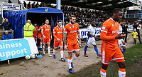 Blackpool players take to the pitch <br /> <br /> Photographer Andrew Kearns/CameraSport<br /> <br /> The EFL Sky Bet League Two - Bristol Rovers v Blackpool - Saturday 2nd March 2019 - Memorial Stadium - Bristol<br /> <br /> World Copyright © 2019 CameraSport. All rights reserved. 43 Linden Ave. Countesthorpe. Leicester. England. LE8 5PG - Tel: +44 (0) 116 277 4147 - admin@camerasport.com - www.camerasport.com