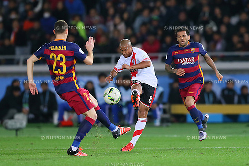 Carlos Sanchez (River), <br /> DECEMBER 20, 2015 - Football / Soccer : <br /> FIFA Club World Cup Japan 2015 <br /> Final match between River Plate 0-3 Barcelona  <br /> at Yokohama International Stadium in Kanagawa, Japan.<br /> (Photo by Yohei Osada/AFLO SPORT)