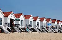 Strandhuisjes aan het strand van Vlissingen