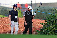 Shane Lowry (IRL) with Neil Manchip (Coach) on the 14th tee during the Pro-Am for the DP World Tour Championship at the Jumeirah Golf Estates in Dubai, UAE on Monday 16/11/15.<br /> Picture: Golffile | Thos Caffrey<br /> <br /> All photo usage must carry mandatory copyright credit (&copy; Golffile | Thos Caffrey)