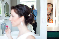 Self portrait with Frances Meike Beard while photographing her wedding at the Historic Heights Firestation in Houston in 2012.