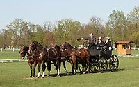 Norman Schroeder, competitor at the International driving event at Kladruby Stables, April 2018. Four-in-hand Carriage