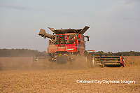 63801-07206 Soybean harvest with Case IH combine in Marion Co. IL