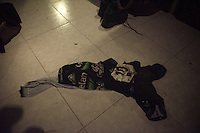 Sven Nys' (BEL/Crelan-AAdrinks) torn race-kit laying on the floor after the race<br /> <br /> GP Sven Nys 2016