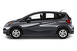 Car driver side profile view of a 2019 Nissan Versa-Note SV 5 Door Hatchback