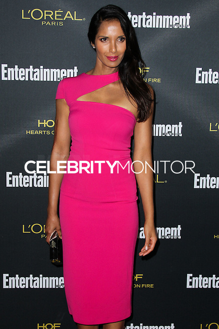 WEST HOLLYWOOD, CA, USA - AUGUST 23: Padma Lakshmi arrives at the 2014 Entertainment Weekly Pre-Emmy Party held at the Fig & Olive on August 23, 2014 in West Hollywood, California, United States. (Photo by Xavier Collin/Celebrity Monitor)