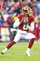 Landover, MD - December 9, 2018: Washington Redskins Josh Johnson (8) throws a pass during the  game between New York Giants and Washington Redskins at FedEx Field in Landover, MD.   (Photo by Elliott Brown/Media Images International)