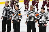 James Shea, Katie Guay, Mark Andrews, Kyle Smiley - The visiting Boston College Eagles defeated the Harvard University Crimson 2-0 on Tuesday, January 19, 2016, at Bright-Landry Hockey Center in Boston, Massachusetts.