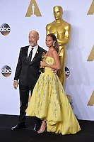 J.K. Simmons & Alicia Vikander at the 88th Academy Awards at the Dolby Theatre, Hollywood.<br /> February 28, 2016  Los Angeles, CA<br /> Picture: Paul Smith / Featureflash