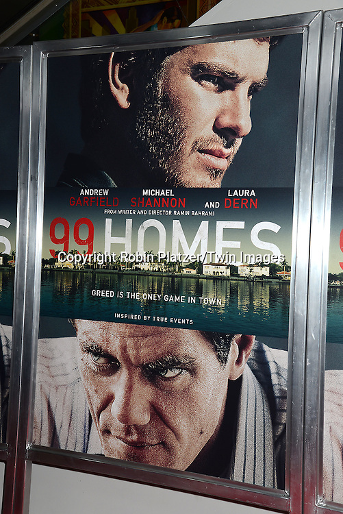 The Poster at the New York Premiere of &quot;99 Homes&quot; on September 17, 2015 at AMC Loews Lincoln Square in New York City, New York, USA.<br /> <br /> photo by Robin Platzer/Twin Images<br />  <br /> phone number 212-935-0770